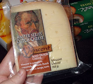 Vincent cheese old packaging