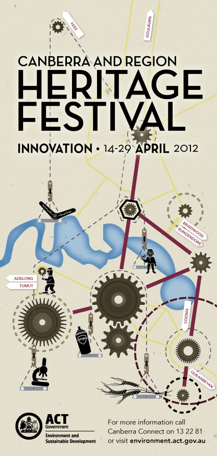 """Canberra and Region Heritage Festival 2012 ID """"graphic"""""""