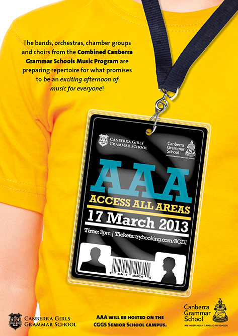 Access All Areas A3 poster