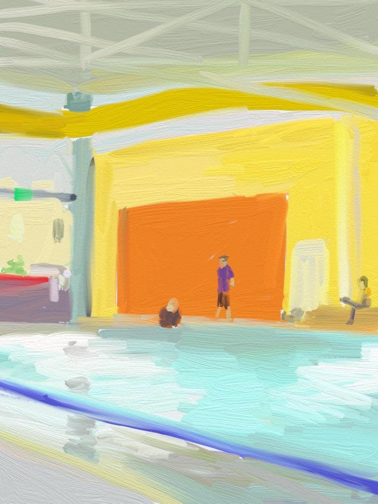 hornsby pool orange door