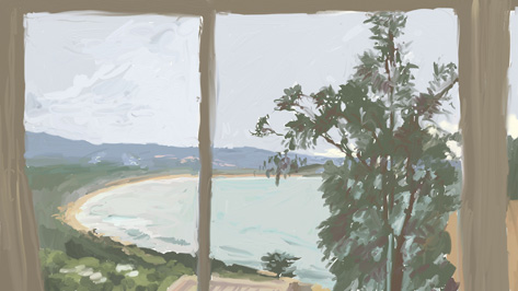 cate riley - View from window Pambula