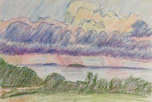 Ocean rainclouds