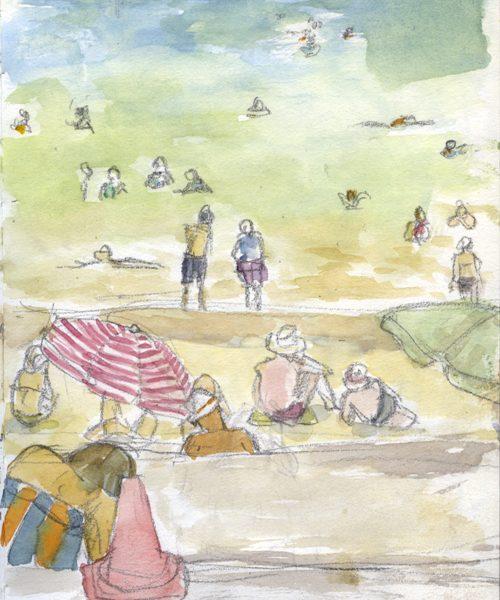 Shark Bay Watercolour print